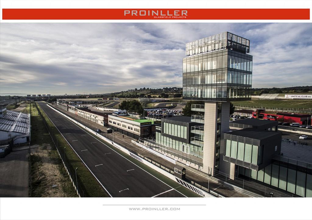 Nuevo edifico torre de control y aledaños en circuito JARAMA RACE
